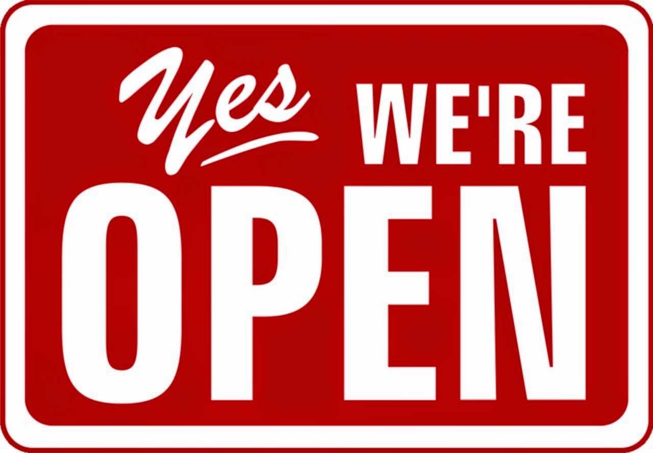 Yes Were Open